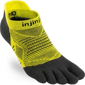 Injinji Run Lightweight No Show Calze, nero/giallo